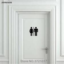 detail feedback questions about joyreside uni restroom bathroom sign toilet door wall decal vinyl sticker decor l and stick home house decoration