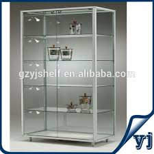 Free Standing Glass Display Cabinets Free Standing Lockable Glass Display Cabinetstower Glass Vitrine 1