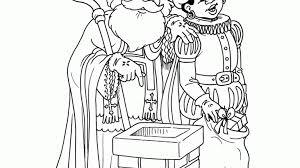 Kleurplaat Sinterklaas En Zwarte Piet Op Het Dak Kleurplaatjenl