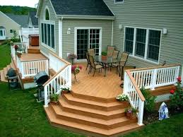 small deck and patio ideas backyard patio deck ideas for small off of with fire pit
