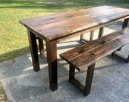 Narrow dining table with bench Farmhouse Tall Rustic 7ft Farmhouse Table With Tall Benches Bar Height Dining Set Counter Height Table Set Dark Walnut Narrow Farmhouse Table Acbonorg Narrow Dining Table Etsy
