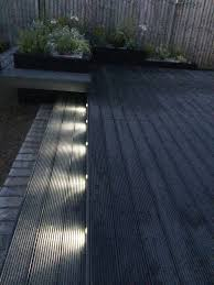 Grey Composite Decking Designs Funky Led Garden Lights Composite Decking In Dark Grey