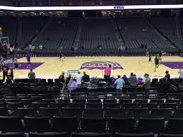Golden 1 Center Kings Seating Chart Golden 1 Center Section 107 Home Of Sacramento Kings