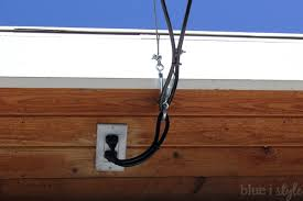 electric in garage eaves