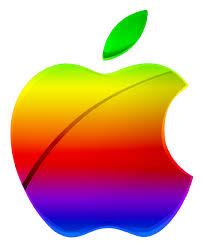 apple logo vector. colored modern apple logo vector by greenmachine987 t