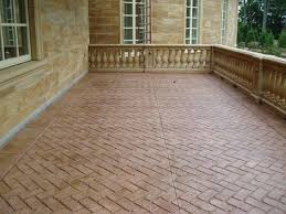 herringbone brick stamped concrete