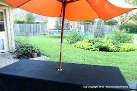 for patio table cover with umbrella hole