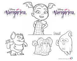 Vampirina Coloring Pages Printable Colouring
