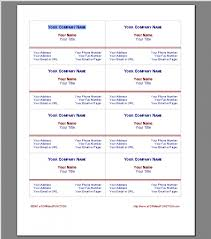 Microsoft Business Cards Templates Five Various Ways To Do Business Card Template Download