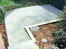 installing patio view the gallery s install patios pertaining brick cost pavers over concrete thin