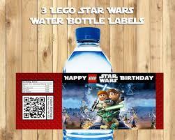 Star Wars Lego Decorations Lego Star Wars Water Bottle Labels Lego Star Instbirthday