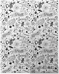 Plakát Káva Bezešvé Vzor Ve Stylu Tetování