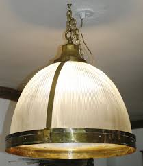 huge antique holophane brass dome chandelier lamp ann morris french industrial 1 of 12only 1 available huge antique holophane brass dome chandelier lamp