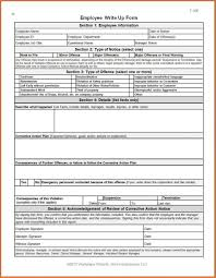 Disciplinary Forms For Employees Free Employment Write Up Form Sample Of Certificate Of Clearance For