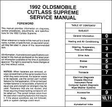 1992 oldsmobile cutlass supreme repair shop manual original these manuals cover all 1992 oldsmobile cutlass supreme models this book measures 8 5 x 11 and is 3 thick buy now to own the best manual for your