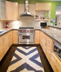 Innovation Modern Kitchen Rugs U Shaped With Appliances And Rug Intended Perfect Design