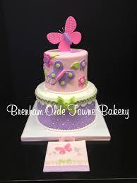 Butterfly Baby Shower Cake Brenham Olde Towne Bakery