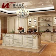 cool royal kitchen minimalist red cherry solid wood modular kitchen cabinet luxury fashion royal kitchen cabinet
