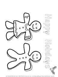 Small Picture Christmas printable coloring page Gingerbread Couple coloring