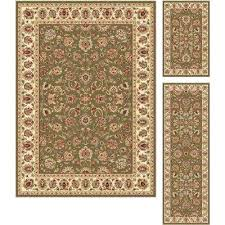 3 piece rug sets rug sets green area rugs rugs the home depot 3 piece rug