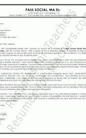 Social Science Teacher Cover Letter Professional User Manual Ebooks