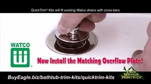 watco quicktrim kits how to change your bathtub drain and overflow finish