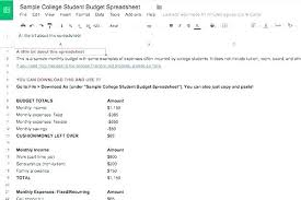Income And Expenses Spreadsheet Template Monthly Budgeting