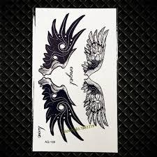 Super Nepromokavé černé Křídlo Peří Tetování Nálepka Pro Muže ženy