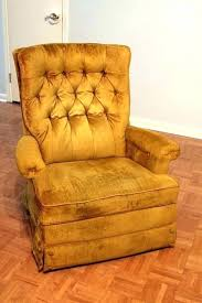 vintage leather recliner with wooden arms in whiskey furniture cover brown knoll chairs