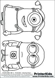 Christmas Minions Coloring Pages Summary Free Printable Minion Om Pa
