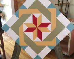 337 best Barn Quilts images on Pinterest | Quilt blocks, Painted ... & Tobacco Leaves Barn Quilt Pattern 3'x3' Adamdwight.com