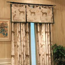 custom made blue natural cotton linen curtains american country style jacquard kanoko curtains living room eco