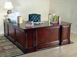 l shaped executive desk. Fine Desk Deluxe Cherry Executive Office Desk Right Return  To L Shaped B