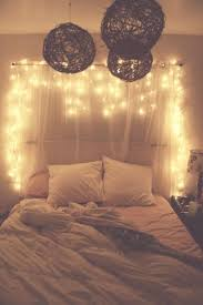 bedroom decoration with fairy lights