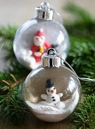 diy ornaments of plastic baubles