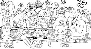 Coloring Pages Of Spongebob Characters Archives Throughout ...