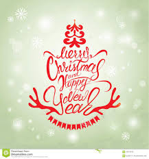 merry christmas and happy holidays text. Modren And Download Merry Christmas And Happy New Year Card Calligraphy Handwritten  Stock Vector  Illustration Of With Holidays Text R