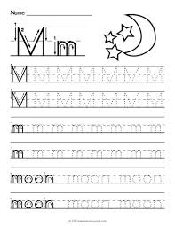 Tracing The Letter A Free Printable Tracing Letter M Worksheet