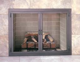 smlf contemporary fireplace doors glass brushed nickel modern and screens design specialties