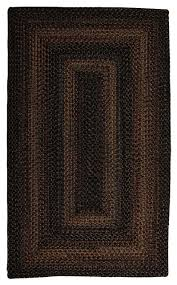 braided black forest area rug rectangle black gray 1 8