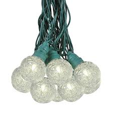 Outdoor Holiday Globe Lights Plastic Globe Shaped Outdoor G40 Tinsel String Light Sets