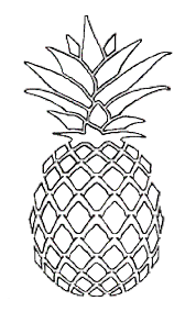 pineapple clipart black and white. pineapple clipart black and white u
