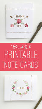 Printable Note Cards Best 25 Printable Thank You Notes Ideas On Pinterest Printable