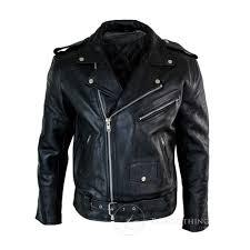 black biker motorcycle real leather jacket for mens jpg