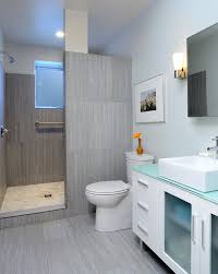 modern shower tile with glass shade bathroom contemporary and gray stone shower