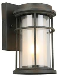 Exterior Wall Accent Lighting 1x60w Outdoor Wall Light W Zinc Finish Frosted Inner Glass