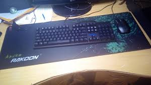 rate my set mechanical keyboard rakoon raber mouse pad 80 30cm and some random cooler master storm mouse