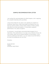 Sample Recommendation Letter For Student Entering College Reference