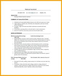 Back Office Resumes Objective For Resume Medical Assistant Generic