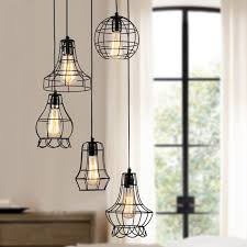klemon metal wire cage hanging lamp intended for pendant light plans 16